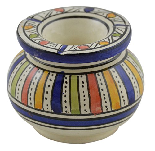 Ceramic Ashtrays Hand Made Moroccan smokless Ceramic Medium