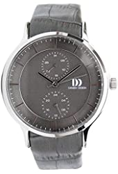 Danish Design Women's 37mm Grey Leather Band Steel Case Quartz Analog Watch IQ18Q1155