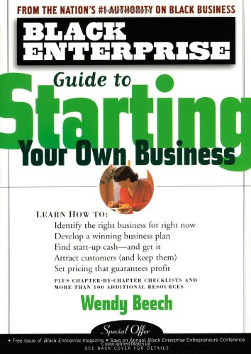 Search : Black Enterprise Guide to Starting Your Own Business
