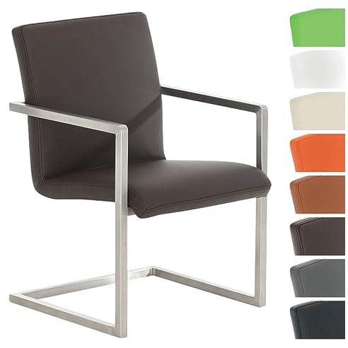 Exceptional CLP Design Edelstahl Freischwinger Stuhl JAVA V2, Besucherstuhl Mit Armlehne,  Konferenzstuhl Gepolstert, Pictures