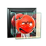 MLS Wall Mounted Soccer Glass Display Case, Black