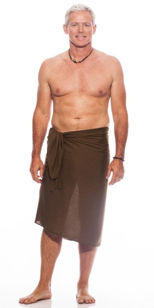 1 World Sarongs Mens Solid Color Sarong SARONG-MEN-KD-SOLID-BLACK