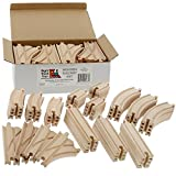 Toys : Wooden Train Track Set 52 Piece Pack - 100% Compatible with All Major Brands including Thomas