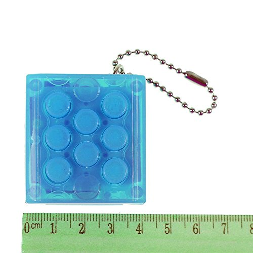 Bubble Wrap Key Ring - KingNew Original Blue Mugen Puti Puchi Bubble Pop Keychain Air Electronic Bubble Wrap Keyring Infinite Anti Stress Squeeze (Blue)