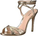 SCHUTZ Women's ATHANY Heeled Sandal, Platino, 6 M US