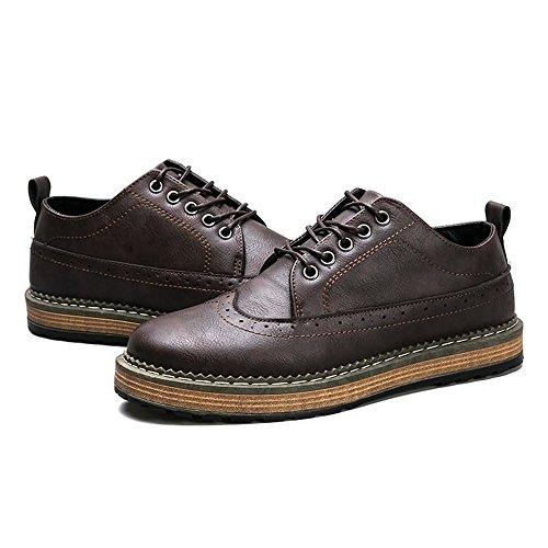 Deportivas 2018 Hombre EU Hombres Marrón 44EU Deporte para hasta Zapatillas Color tamaño el de Zapatos 41 tamaño Negro shoes sin Cordones Oxford Fang AqwXpA