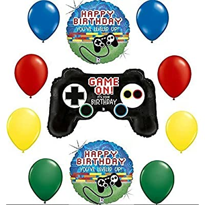 Gamers Game On! It's Your Birthday Balloon Decoration Kit by Mayflower: Toys & Games