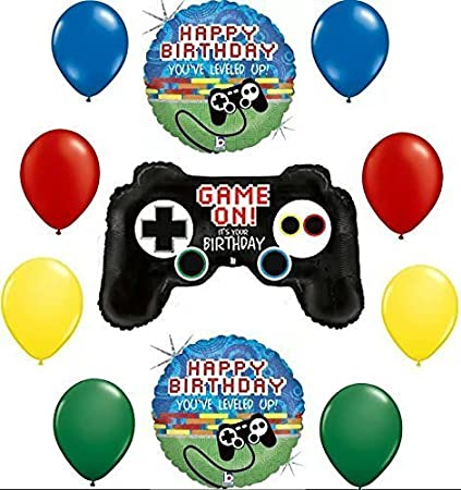CY Mylar Video Game Controller Latex Balloons Birthday Party Supplies Happy Birthday Balloons 12inch