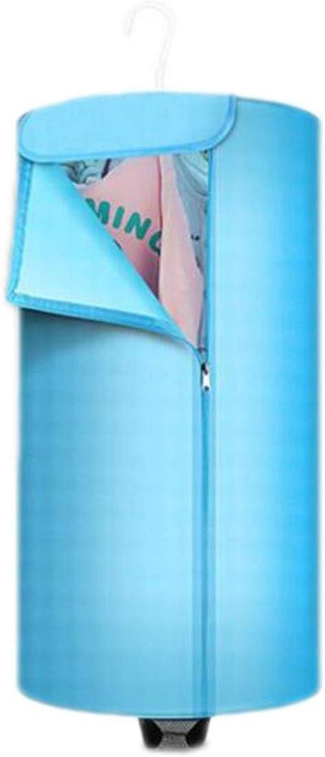 PFSNR Secadora de Ropa Secadora portátil silenciosa de bajo Consumo, Secadora Plegable, Secadora for Dormitorio de Estudiantes/Ropa de bebé 380W (Color : Blue, Size : One Size)