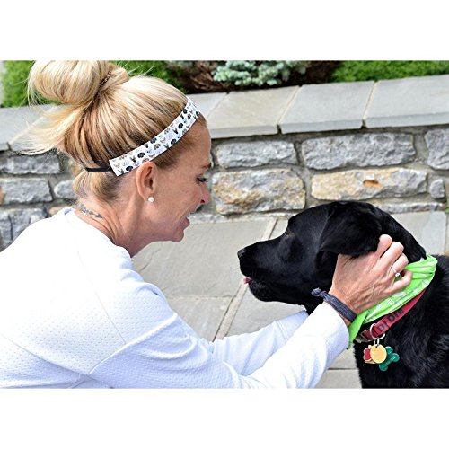 Dog Days Sweaty Bands Womens Girls Headband Non-Slip Velvet-Lined Sports Hairband