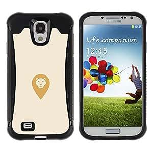 Fuerte Suave TPU GEL Caso Carcasa de Protección Funda para Samsung Galaxy S4 I9500 / Business Style dummy lion