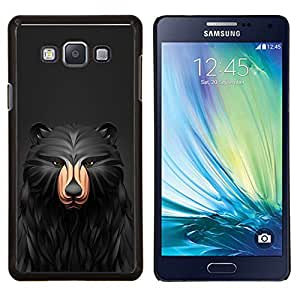 LECELL--Funda protectora / Cubierta / Piel For Samsung Galaxy A7 A7000 -- Negro Patrón Oso --