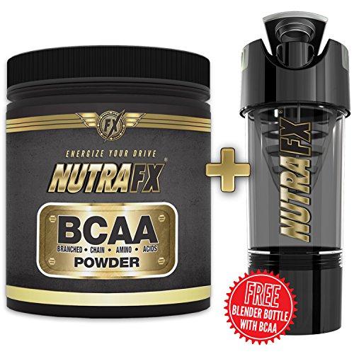 Nutrafx Bcaa poudre Mg 6000 non aromatisé avec don gratuit Nutrafx 16 Oz Cyclone technologie Shaker Pre Workout et perte de poids
