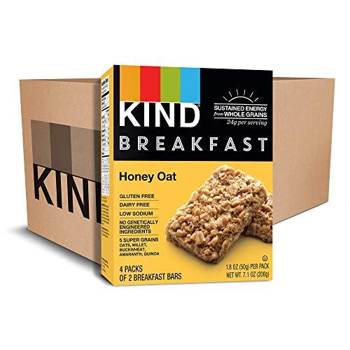 KIND Breakfast Bars, Honey Oat, Gluten Free, 1.8oz, 32 Count