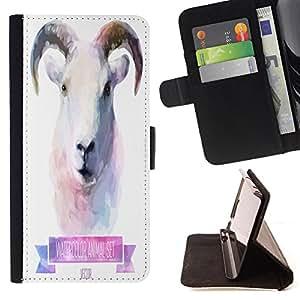 King Case - FOR Samsung Galaxy S4 IV I9500 - You're my somatopsychic?master - Prima caja de la PU billetera de cuero con ranuras para tarjetas, efectivo Compartimiento desmontable y correa para la mu?eca