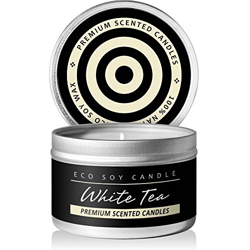I & Candle, Aromatherapy Soy Wax Scented Candles (White Tea & (Ginger Tea Scent)