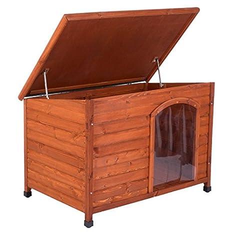 Caseta para perros de madera 104x66x70cm: Amazon.es: Productos para mascotas
