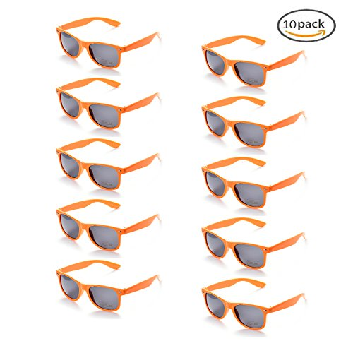 100% UV Protection Wholesale Multi PACK Unisex 80'S Retro Style Promotional Sunglasses