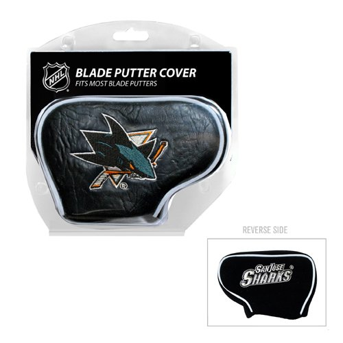 Team Golf NHL San Jose Sharks Golf Club Blade Putter Headcover, Fits Most Blade Putters, Scotty Cameron, Taylormade, Odyssey, Titleist, Ping, Callaway
