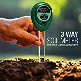 3-in-1 Soil Moisture Meter, Petcaree Light and pH / Acidity Meter Plant Tester, Helpful for Garden, Farm, Lawn, Indoor & Outdoor (No Battery Required) (Upgraded)