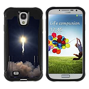 LASTONE PHONE CASE / Suave Silicona Caso Carcasa de Caucho Funda para Samsung Galaxy S4 I9500 / Rocket takeoff