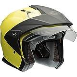 Bell Mag-9 Open Face Motorcycle Helmet (Solid Gloss Hi-Viz Yellow,