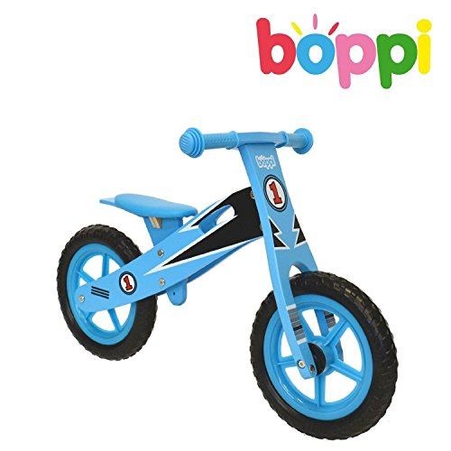 Boppi Kids Wooden Balance Bike - 2, 3, 4 and 5 Years - Blue Racer by Boppi (Image #1)