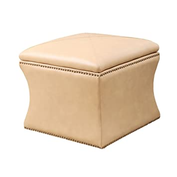 Superbe Abbyson Living Monica Pedersen Storage Ottoman In Camel