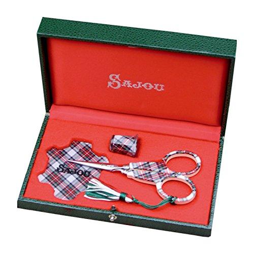 SAJOU サジュー フランス輸入雑貨 はさみシンブル糸巻セット ECOSSAIS-OI 15.5cm×9cm NEC04   B00BKF11SO