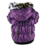 Patgoal Winter Warm Pet Dog Soft Padded Zipper Coat Hooded Jacket Clothes for Small Dog