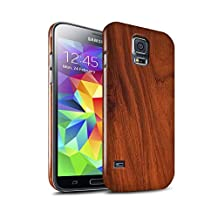 STUFF4 Gloss Hard Back Snap-On Phone Case for Samsung Galaxy S5 Neo/G903 / Mahogany Design / Wood Grain Effect/Pattern Collection