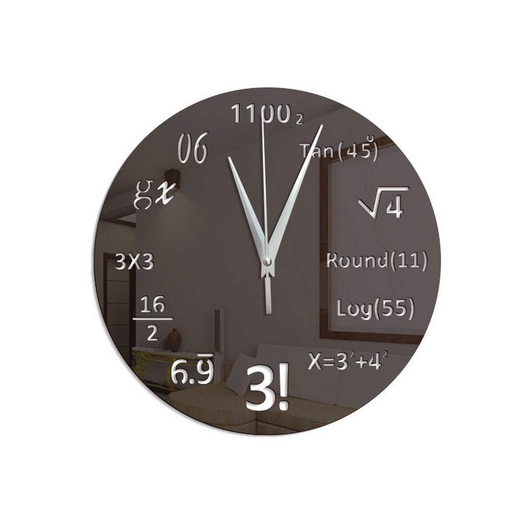 Gfone Orologio da Tavolo Creativo Formula Matematica Orologio da Parete Home Office Decor Orologi da Parete