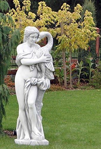 Mujer con cisne (s101100) Akt Escultura Jardín figuras Estatua de ...