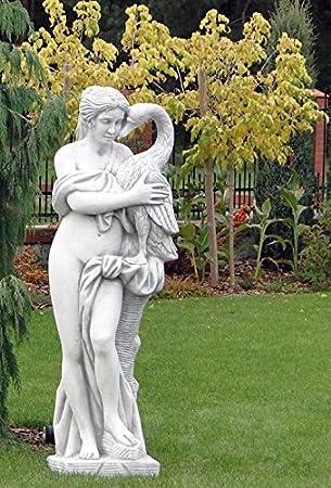 Mujer con cisne (s101100) Akt Escultura Jardín figuras Estatua de piedra 160 cm: Amazon.es: Jardín