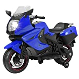 Uenjoy Murtisol Kids Motorcycle Power Wheels Motorcycle 12V/ 2 Wheels/ Blue