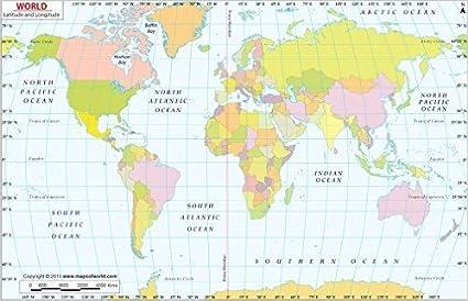 Cartina Mondo Tropici.Mappa Del Mondo Con Latitudine E Longitudine Laminato 91 4 Cm W X 58 4 Cm H Amazon It Cancelleria E Prodotti Per Ufficio