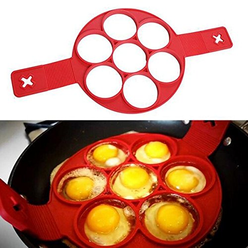 Baba Nonstick Pancake Pan Flip Perfect Breakfast Maker Mould Silicone Omelette Egg Ring Maker Kitchen Mold Flipjack Tool