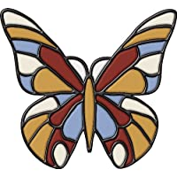 Brewster 99473 Peel & Stick Butterfly Stained Glass Appliqu by Brewster