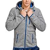 kaifongfu Jacket Top for Men,Men's Long Sleeve Zip Sweater Hoodie Coat Pullover Top(Gray,2XL)