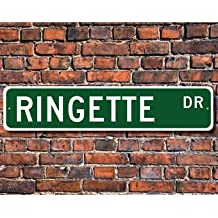 Ringette, Ringette Sign, Ringette Fan, Ringette Participant, Ringette Gift, Ice Rink Winter Sport, Custom Street Sign,Quality Metal Sign