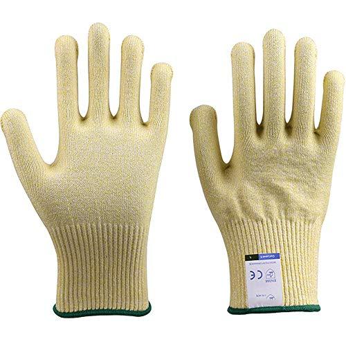アンチカット手袋のカット耐性の手袋、超耐久性のあるシリーズ - 高性能レベル5の保護、食品グレード (Color : Yellow, Size : M)