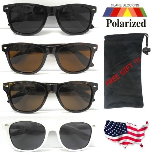 ALL NEW Polarized Wayfarer Sunglasses Retro Glasses Vintage Frame Unisex UV400 / Black - Brand Sunglasses Bruce Lee