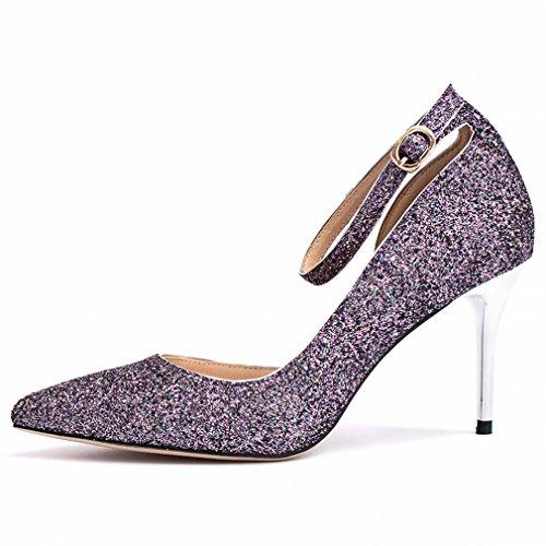 Zapatos de Tacón Alto con Tacones de Aguja Finos UN