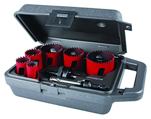 MK Morse MHS02E Bi-Metal Hole Saw Electrician Kit, 8-Piece