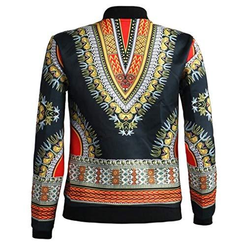 Stile Autunno Lunghe Giubbino Jacket Vintage Donna Casual Corto Primaverile Etnico Grazioso Maniche Schwarz Stlie Cerniera Relaxed Cappotto Con Fashion Giacche qEwSz6cWz