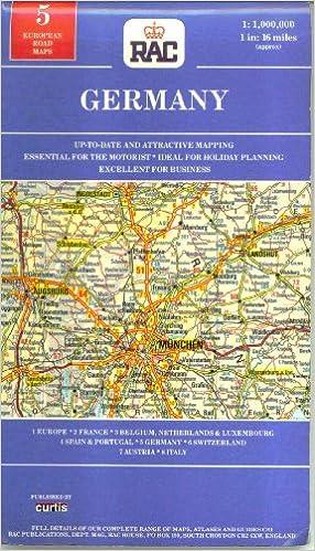 Rac Road Maps RAC Road Map of Germany (European Road Maps): Amazon.co.uk: Books