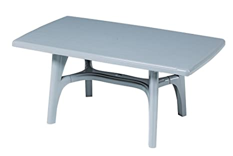 Table en plastique, Table fixe, table de jardin, table gris ...