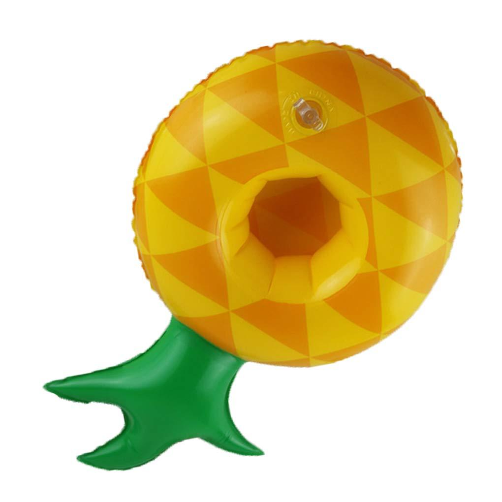 Morelyfish Piscine Fruit Forme Boisson Gonflable Porte-gobelet past/èque Ananas Citron flottables sous-Verres
