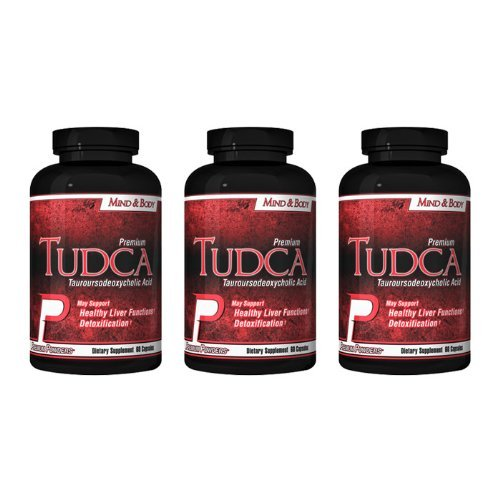 TUDCA (Tauroursodeoxycholic Acid) 3 pack, 250mg, 60 count, each