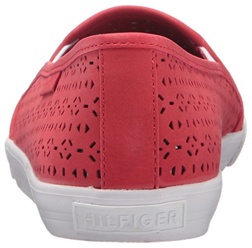Tommy Hilfiger Womens Beau Flat Red
